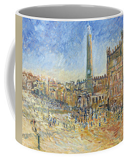 The Piazza In Siena, 1995 Oil On Canvas Coffee Mug