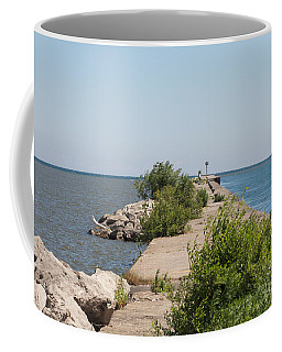 Coffee Mug featuring the photograph The Pier by William Norton