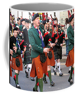 Coffee Mug featuring the photograph The Pipers by Suzanne Oesterling