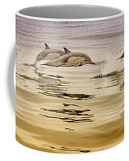 Coffee Mug featuring the photograph Dolphin Canvas Print, Photographic Print, Art Print, Framed Print, Greeting Card, Iphone Case, by David Millenheft