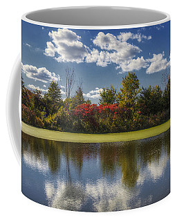 The Pond In Autumn Coffee Mug