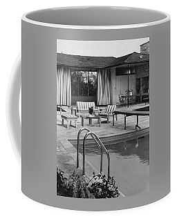 The Pool And Pavilion Of A House Coffee Mug