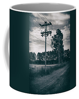 Coffee Mug featuring the photograph The Power Lines  by Howard Salmon