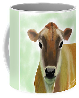 The Pretty Jersey Cow  Coffee Mug