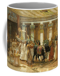 The Procession Of The Sacred Bull Coffee Mug