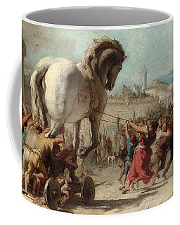 The Procession Of The Trojan Horse Into Troy Coffee Mug