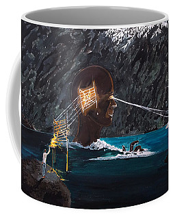 The Projection Of Thought And Mind On Reality Coffee Mug by Lazaro Hurtado