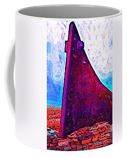 The Purple Pink Wedge Coffee Mug
