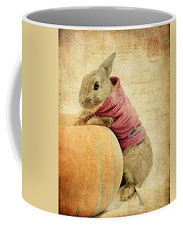 The Rabbit And The Pumpkin Coffee Mug