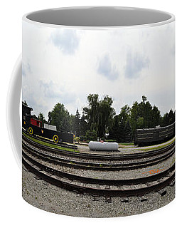 Coffee Mug featuring the photograph The Railroad From The Series View Of An Old Railroad by Verana Stark
