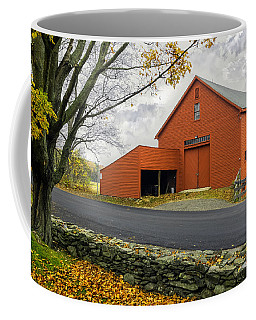 The Red Barn At The John Greenleaf Whittier Birthplace Coffee Mug
