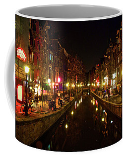 The Red Lights Of Amsterdam Coffee Mug by Jonah  Anderson