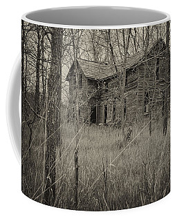 Coffee Mug featuring the photograph The House In The Woods by Mary Lee Dereske