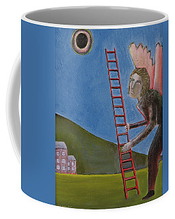 The Rise Of Icarus, 1989 Oil On Canvas Coffee Mug