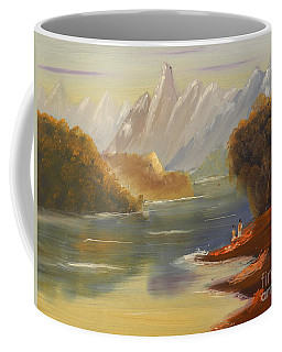 The River Flowing From A High Mountain Coffee Mug