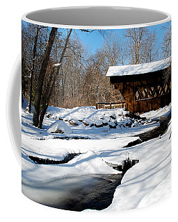 The River Flows Under The Springwater Covered Bridge Coffee Mug