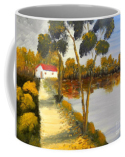 Coffee Mug featuring the painting The Riverhouse by Pamela  Meredith
