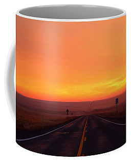 Coffee Mug featuring the photograph The Road Goes On And On by Lynn Hopwood