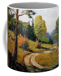 The Road Not Taken Coffee Mug by Lee Piper