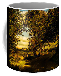 Coffee Mug featuring the photograph The Road To Litlington by Chris Lord