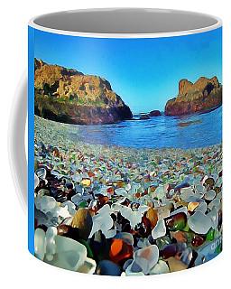 Glass Beach In Cali Coffee Mug