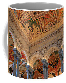 The Roof Above Jefferson's Books  Coffee Mug