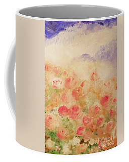 Coffee Mug featuring the painting The Rose Bush by Laurie Lundquist