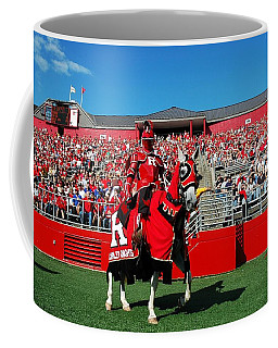 The Scarlet Knight And His Noble Steed Coffee Mug