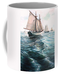 The Schooners Coffee Mug by Eileen Patten Oliver