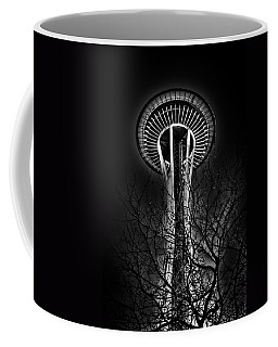 The Seattle Space Needle At Night Coffee Mug