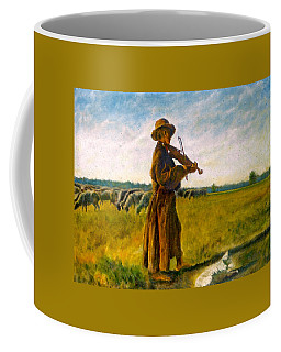 Coffee Mug featuring the painting The Shepherd by Henryk Gorecki