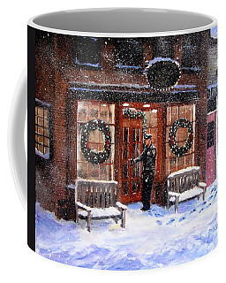 The Shiver And Shake Watch On Christmas Eve Coffee Mug