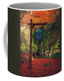 Coffee Mug featuring the photograph The Sign Of Fall Colors by Jeff Folger