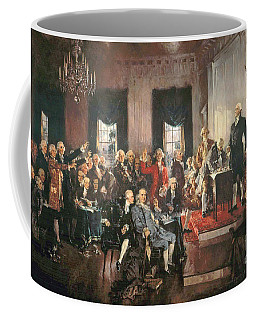 The Signing Of The Constitution Of The United States In 1787 Coffee Mug