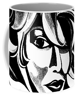 Black And White Abstract Woman Face Art Coffee Mug