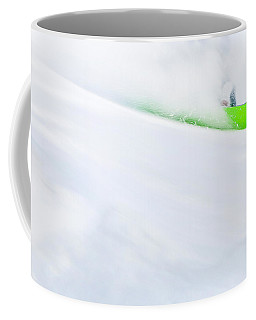 The Snowboarder And The Snow Coffee Mug