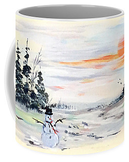 The Snowman  Coffee Mug by Dorothy Maier
