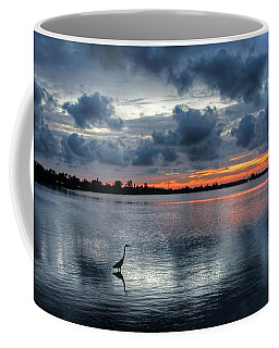 Coffee Mug featuring the photograph The Solitary Fisherman - Florida Sunset by HH Photography of Florida