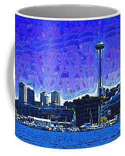 The Space Needle From Lake Union Coffee Mug