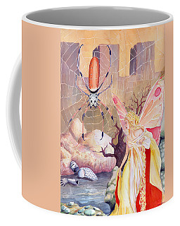 Coffee Mug featuring the painting The Spider by Katherine Miller