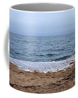 The Splash Over On A Sandy Beach Coffee Mug by Eunice Miller