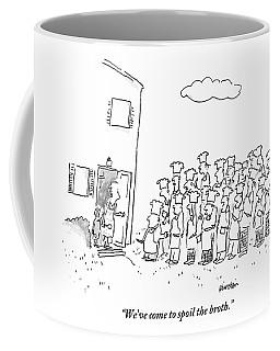 The Spokesman For A Hoard Of Chefs Addresses Coffee Mug