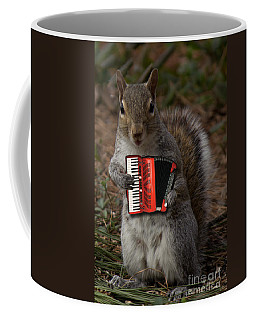 The Squirrel And His Accordion Coffee Mug