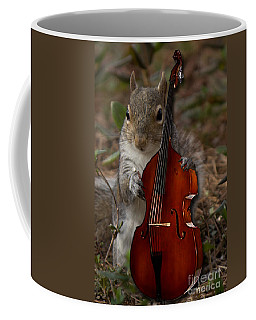 The Squirrel And His Double Bass Coffee Mug