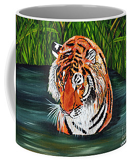 Coffee Mug featuring the painting The Stare by Laura Forde