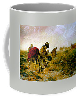 Coffee Mug featuring the painting The Storm by Henryk Gorecki