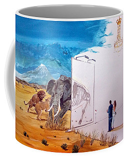 The Subsistence And The Emptiness Of Excess Coffee Mug by Lazaro Hurtado