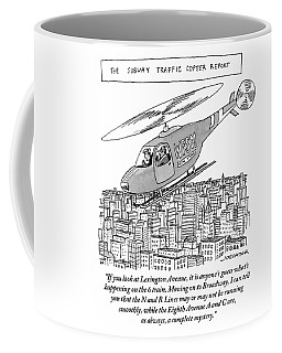 The Subway Traffic Copter Report Features Coffee Mug