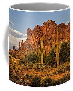 The Superstitions At Sunset  Coffee Mug