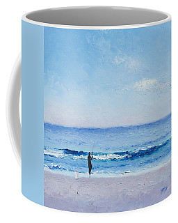 The Surf Fisherman Coffee Mug by Jan Matson